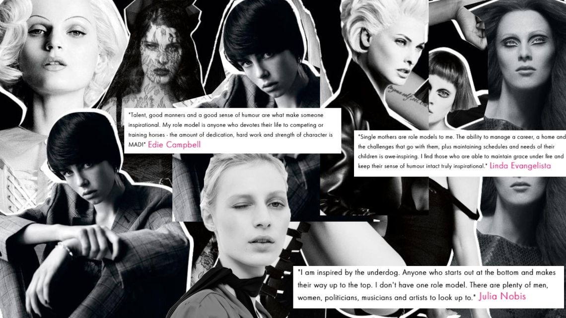 'Why be a model when you can be a role model?'  i-D Magazine celebrates International Women's Day by asking some of their favourite women about who they look up to the most.